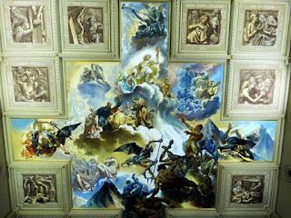 Pintura de Aldo Locatelli no teto da Igreja São Pelegrino, em Caxias do Sul,