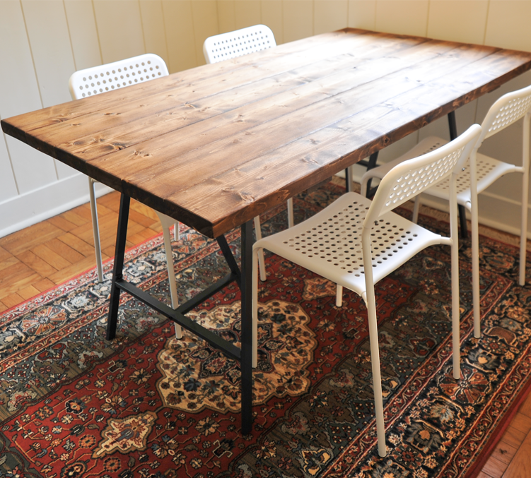 A New Bloom Diy And Craft Projects Home Interiors Style And - Cheap reclaimed wood dining table