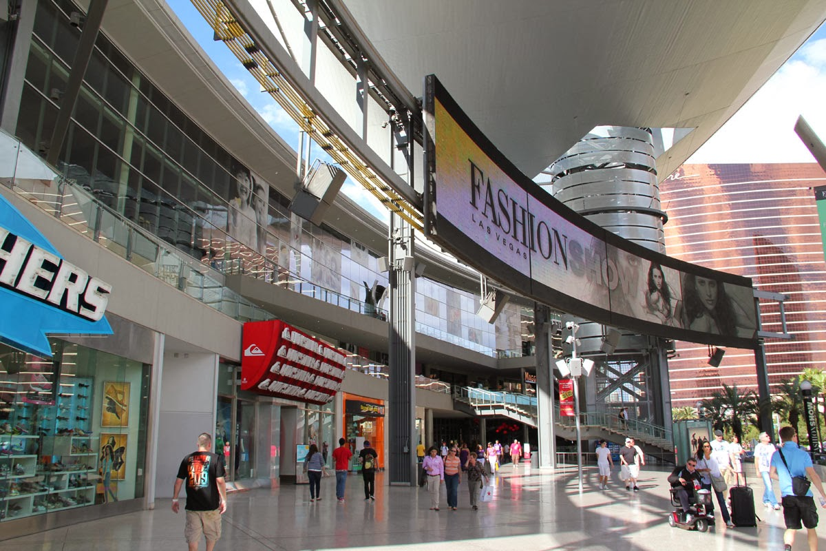 The Fashion Show Mall in Las Vegas is the longtime popular and busy indoor/outdoor shopping complex located right on the Las Vegas Strip. Each year, it receives between 12 to 13 million visitors. Opened in , it sits in prime real estate directly across the street from both the Wynn and Treasure Island, and catty-corner from the Venetian/Palazzo.