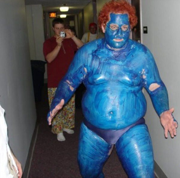 Terrible Smurf Face Paint