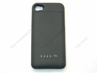 Black 1900mA External Backup Battery Charger Case Black For Iphone 4 4G 4S