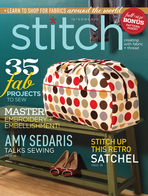 Weekender Bag - meine Tasche auf dem Cover des Stitch Magazine! @frauvau.blogspot.de