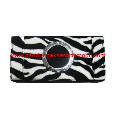 Box Tissue Bulu Macan Hitam Putih