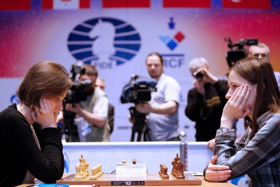2e partie : gain en 58 coups pour Mariya Muzychuk dans une partie Espagnole variante Breyer - Photo © Nastia Karlovich