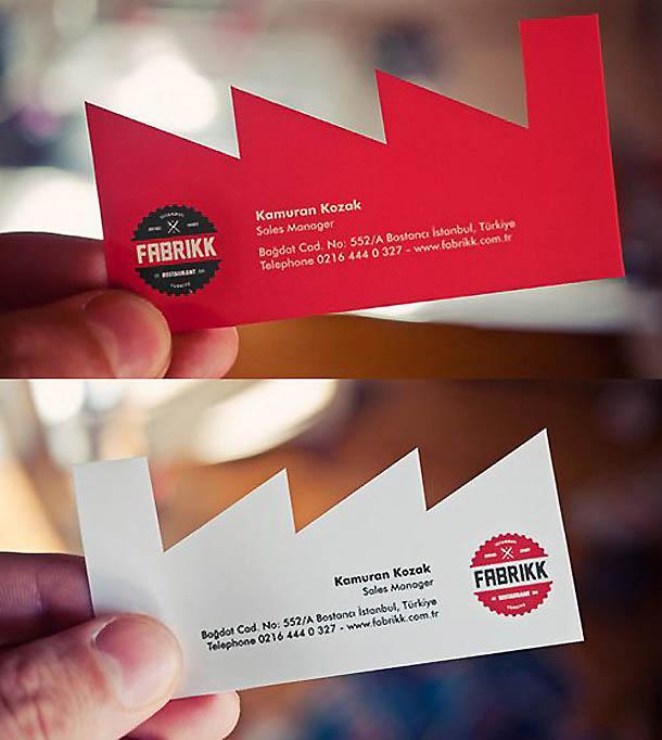 cartões de visita criativos - Fabrikk