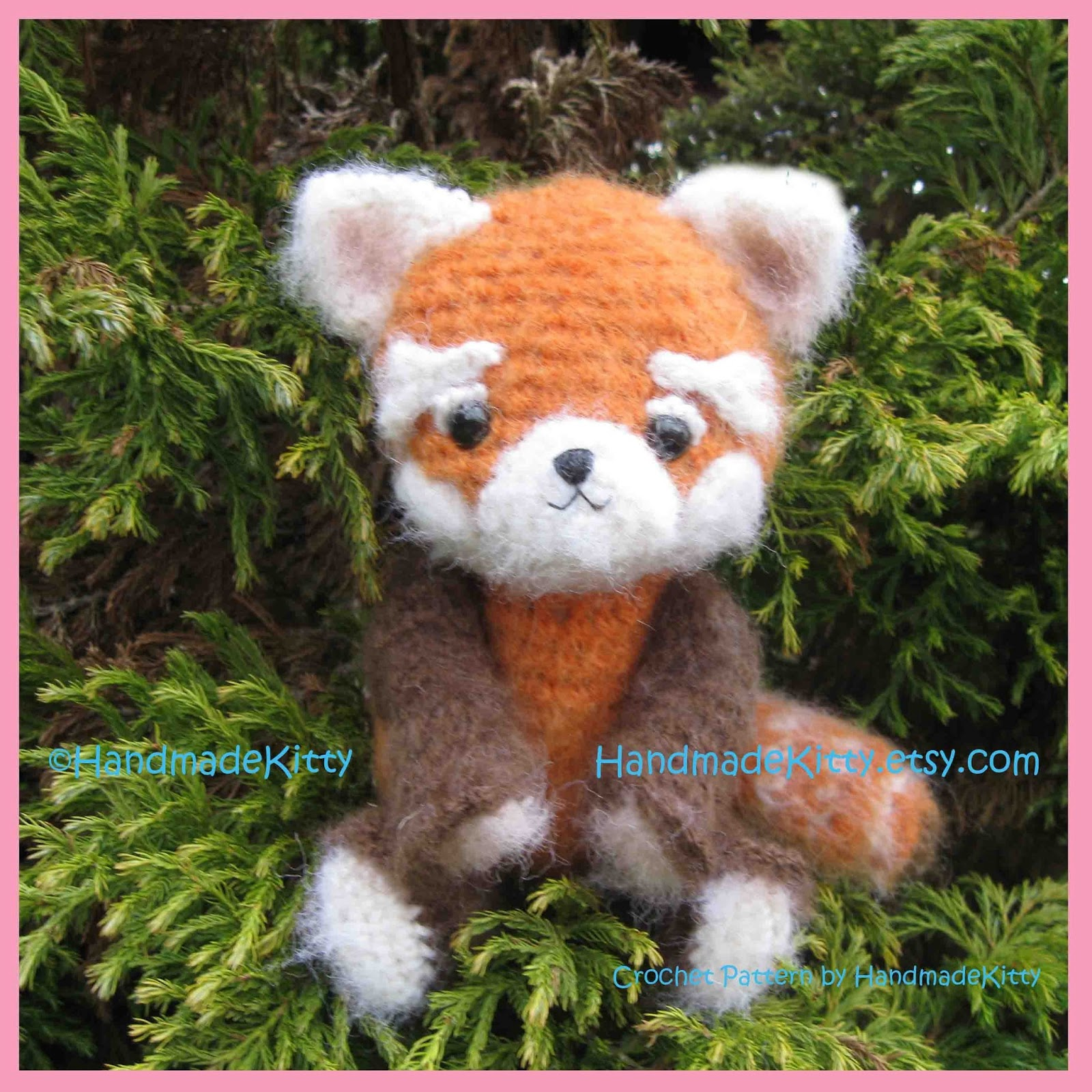 Amigurumi Red Panda : HandmadeKitty: Red Panda Amigurumi PDF Crochet Pattern by ...