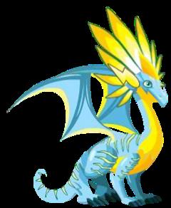 imagen del dragon fluorecente adulto