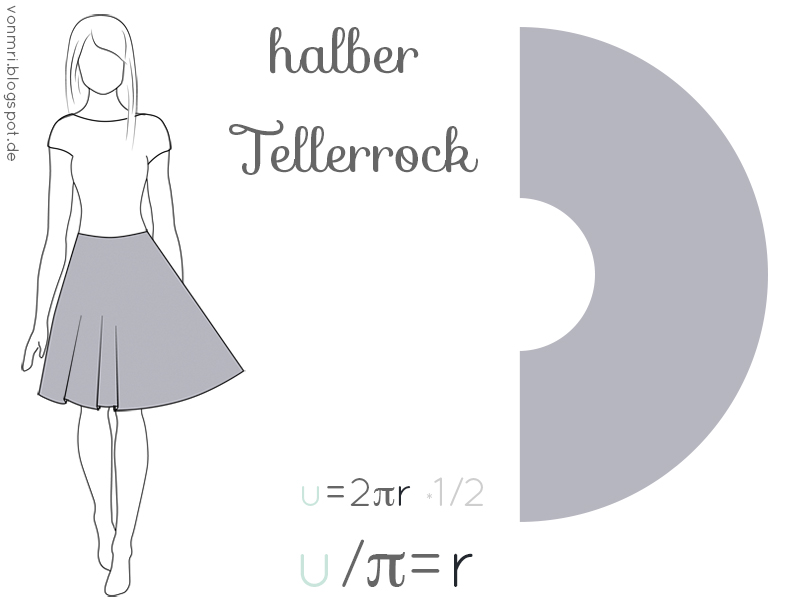Halb-Tellerrock aus Jersey