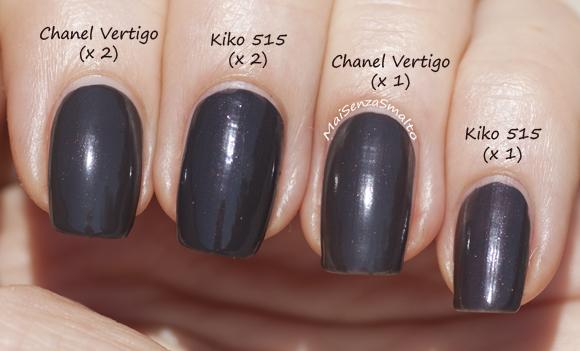 Kiko 515 vs Chanel Vertigo