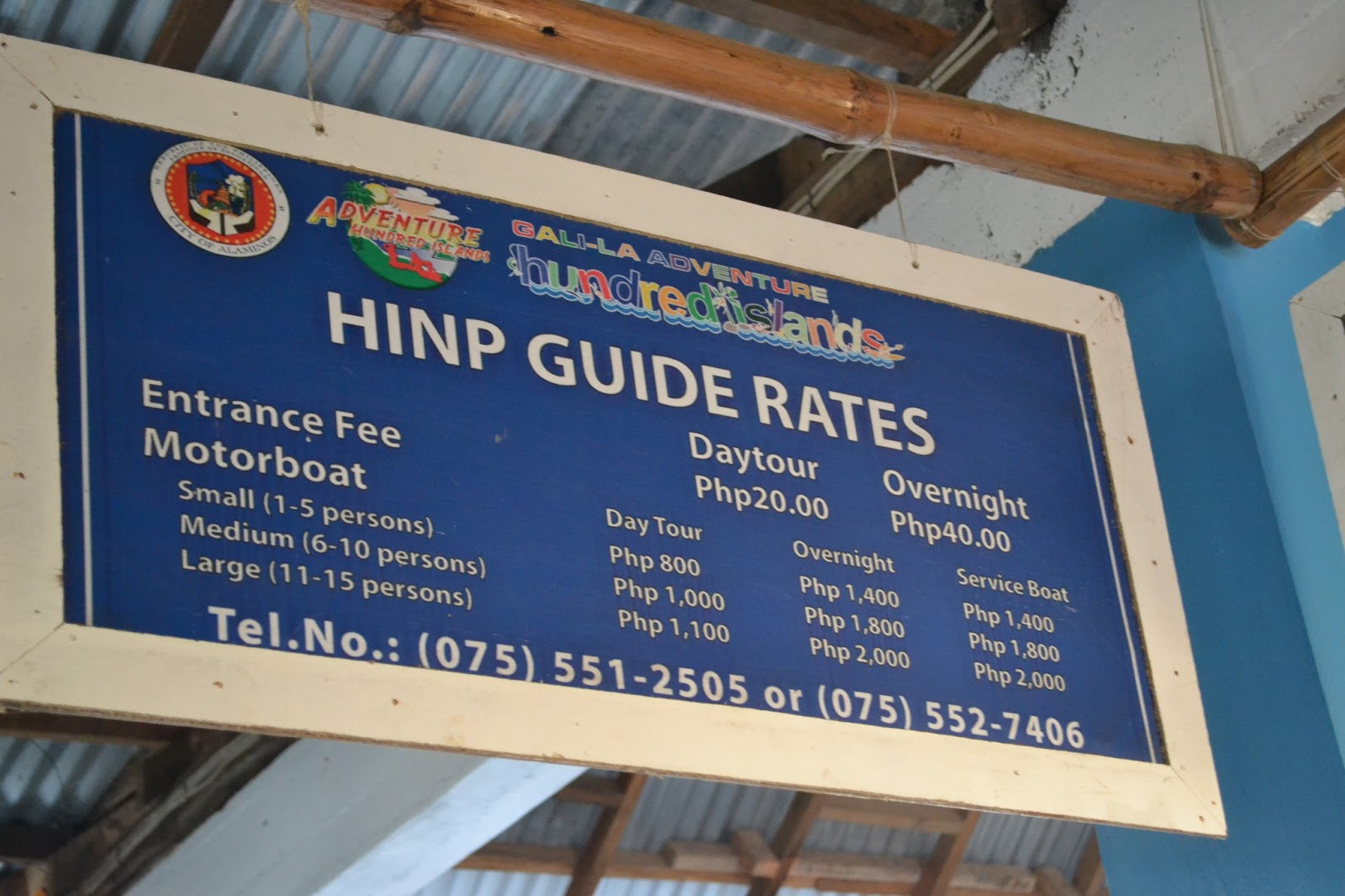 how to get to hundred islands