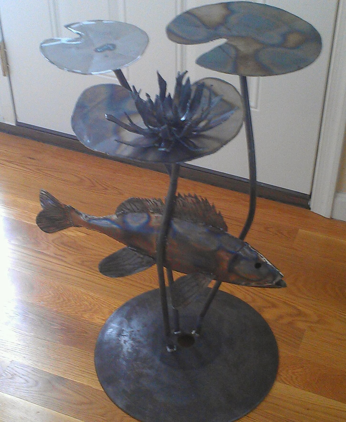 Wilmont iron forge for Koi fish metal art