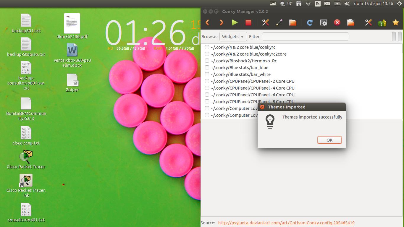 DriveMeca instalando Conky Manager en Ubuntu Trusty Tahr paso a paso