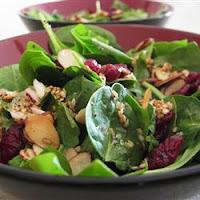 Salade d'épinards aux canneberges