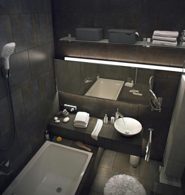 Visualization of bathroom in Raw Loft Visualization by Maxim Zhukov