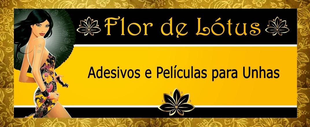 Adesivos de Unhas Flor de Lotus