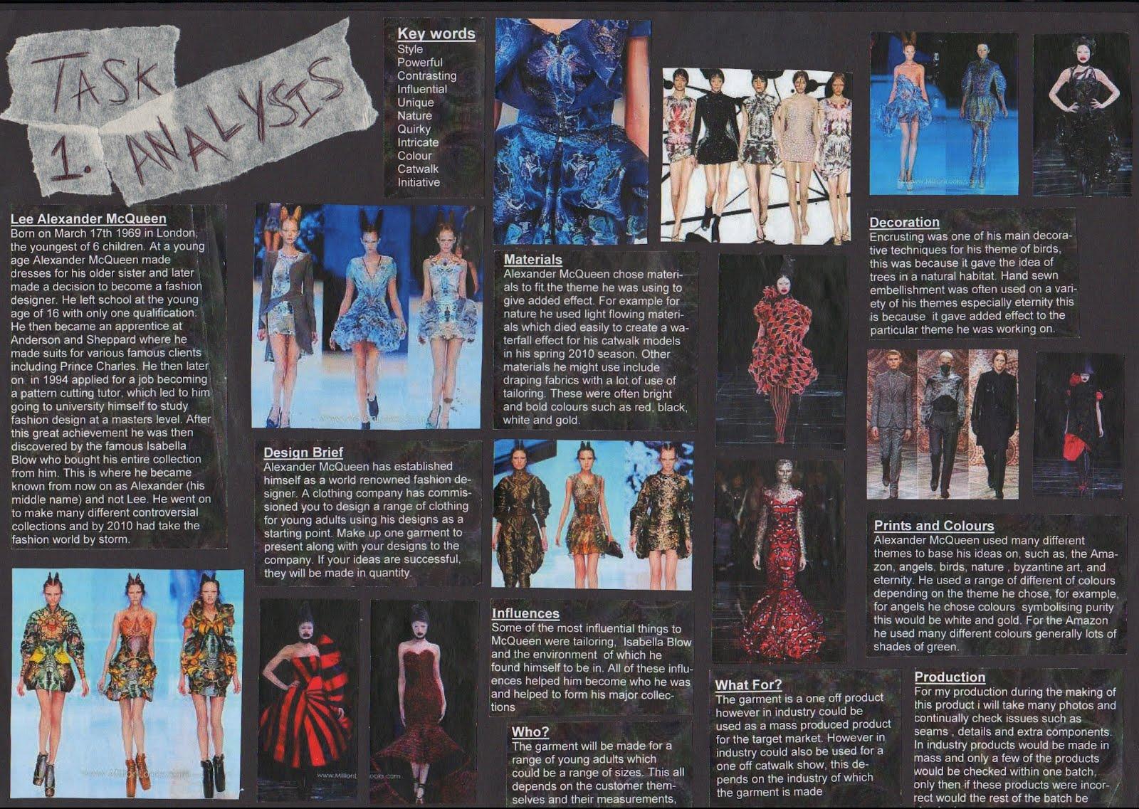 textiles coursework design brief