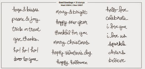 Stampin' Up! Good Greetings stamp set Special Offer