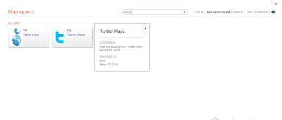 Twitter Bing Map App