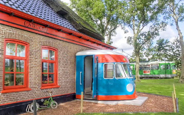 Hotel transforma vagões de trens em acomodações