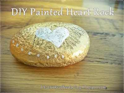 diy painted heart rock for Valentine's Day