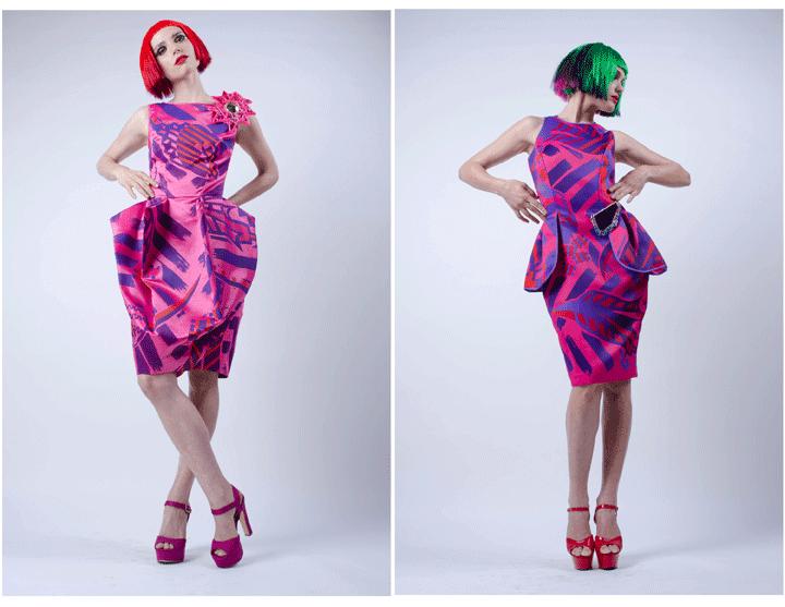 ροζ φόρεμα, κόκκινα μαλλιά, πράσινα μαλλιά, πανκ μόδα, πανκ στυλ, πανκ κουλτούρα, πανκ αισθητική