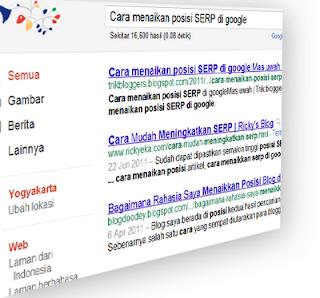 Cara menaikan posisi SERP di google