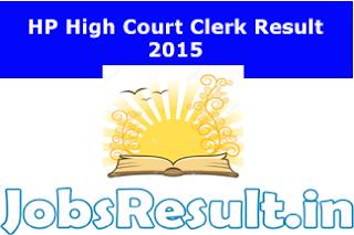 HP High Court Clerk Result 2015