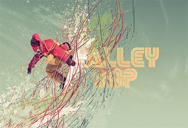 A High Flying Snowboard Illustration