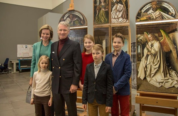 Royal Family Of Belgium Visited Ghent Fine Arts Museum