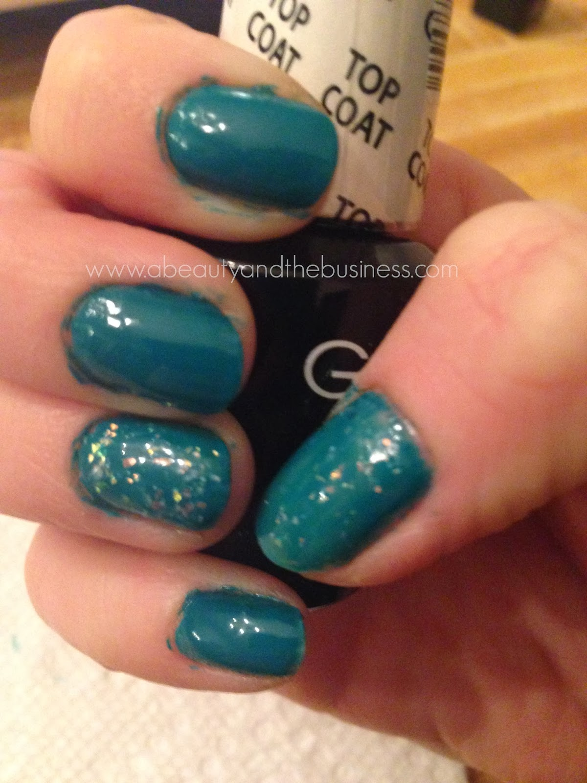 gelish Garden Teal Party, accent nails: Trends Rough Around The Edges, gelish garden teal party swatch, trends rough around the edges swatch, gelish swatch