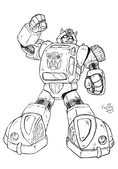 transformer bumblebee coloring pages - photo#25
