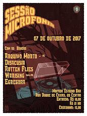 SESSÃO MICROFONIA - DIA 07 DE OUTUBRO, NO MOFADO ESTÚDIO BAR, ÀS 21H