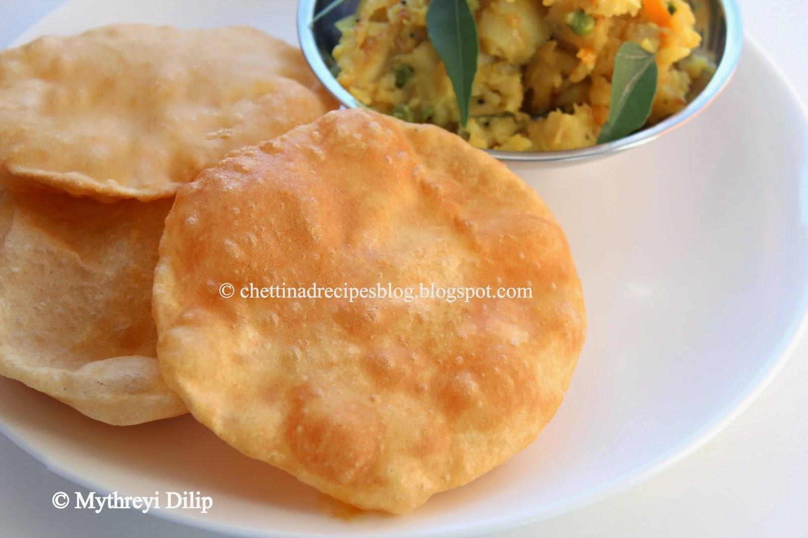 poori recipe / gothumai poori