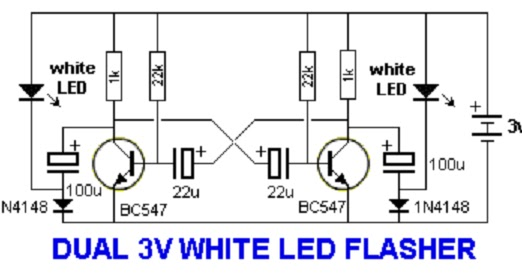 Voltase Hobby  Dual 3v White Led Flasher And Dual 1v5