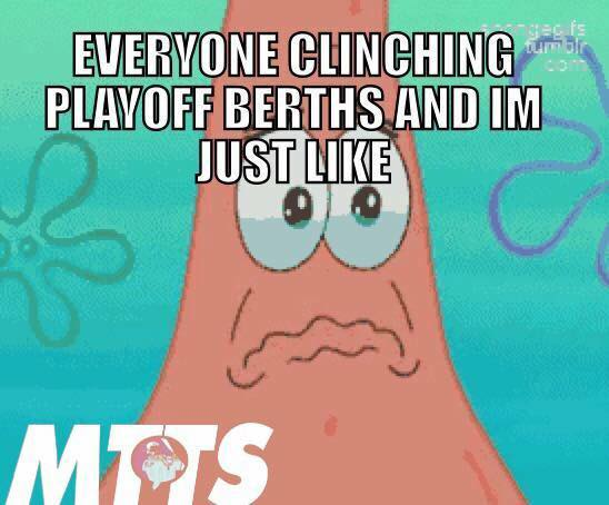 everyone clinching playoff berths and im just like.- #mlb #PatrickStar #clinching #playoff