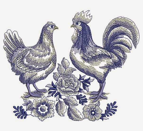 Download Free Chicken And Game Cock Embroidery Download Free