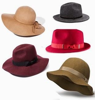 kapelusze, stylziacje z kapeluszami, kapelusze moda jesień zima 2014/2015