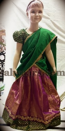 Kids Silk Half Saree