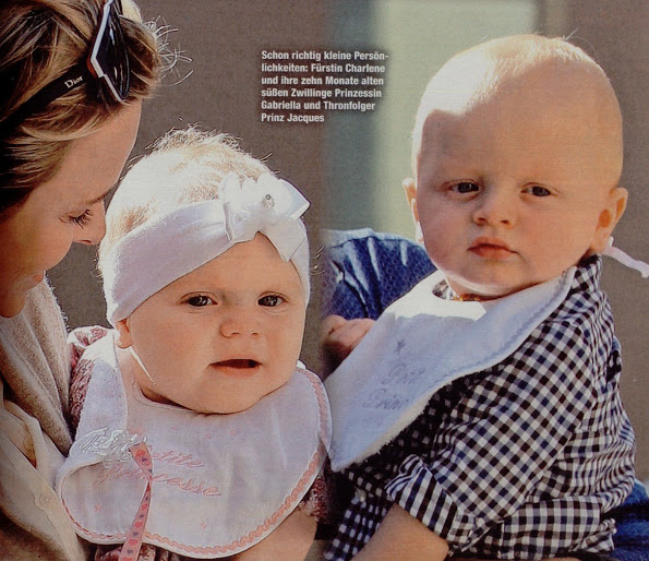 Princess Charlene, Princess Gabriella And Prince Jacques In Die Aktuelle Magazine