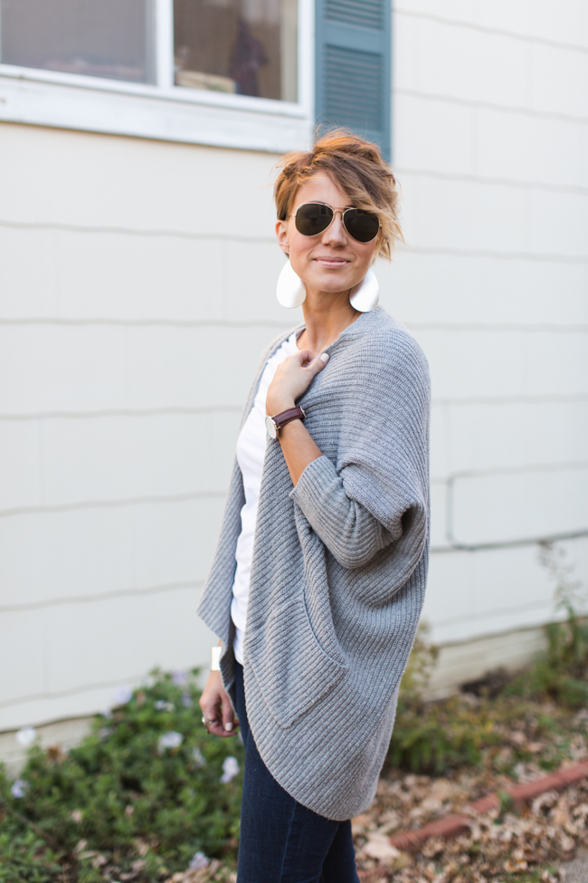 Fringed Boots and Cocoon Cardigan - ONE little MOMMA