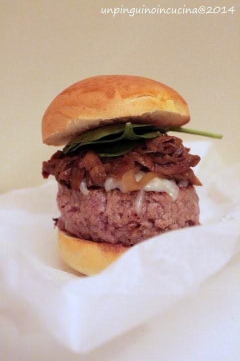 hamburger di vitello ai funghi porcini