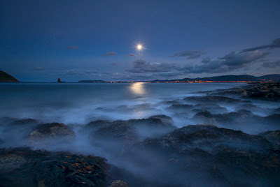 moonlight landscape photography