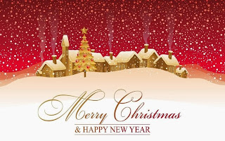 Merry Christmas 2015 and New Year 2016 Greetings Best Wishes Card