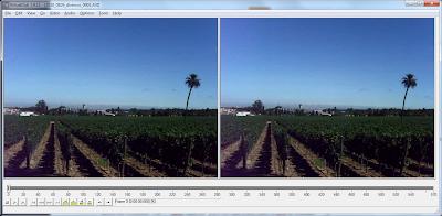 Ao carregar 1 video a interface do VirtualDub fica assim