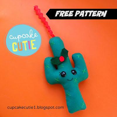 Free Pattern: Cactus Christmas decoration