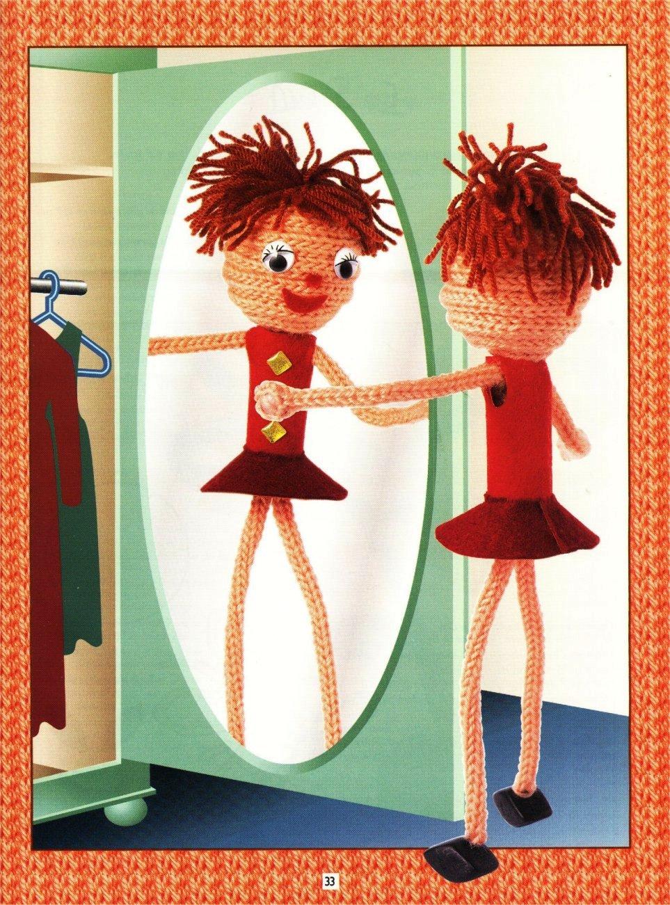 boneca em crochet