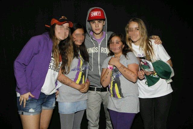 Andrea y Justin Bieber