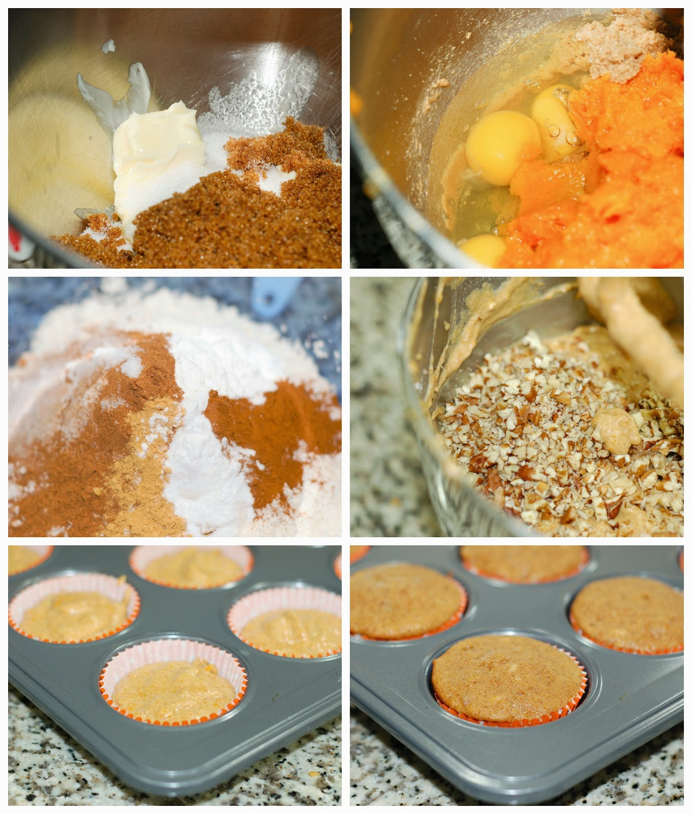 Making butternut squash cupcakes by The Sweet Chick