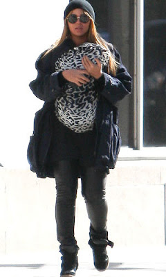 Beyonce and Baby Blue Ivy in wedge sneakers