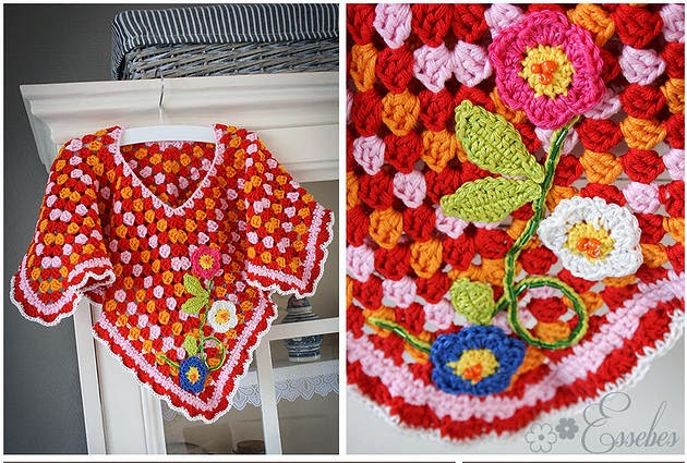 Handmade By Essebes Baby Poncho